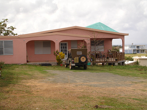 Side view of the house